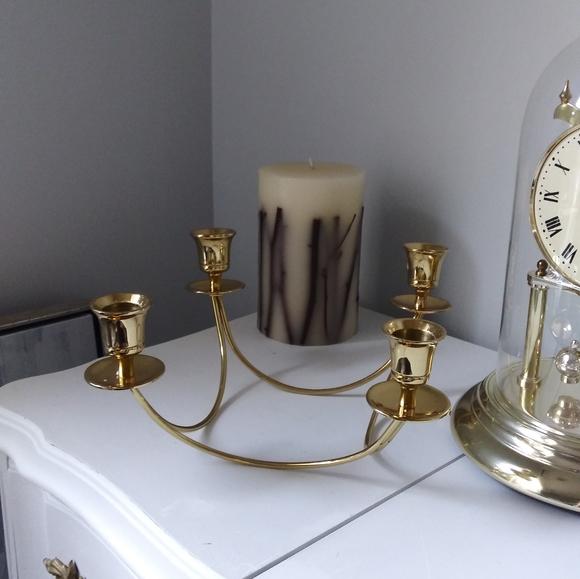 Mid Century Modern Brass Candelabra candle holder